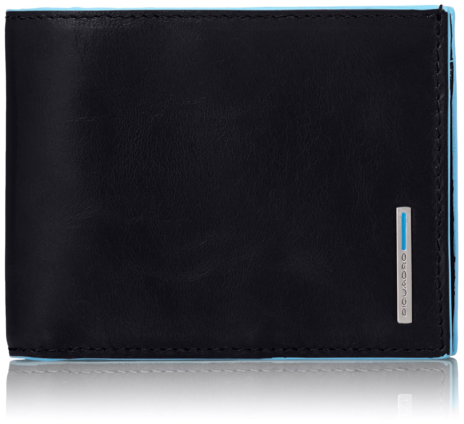 Piquadro Leather Man's Wallet with Coin Purse Case and Credit Cards Slots, Dark Blue, One Size Piquadro Luggage Child Code PU1239B2/BLU2