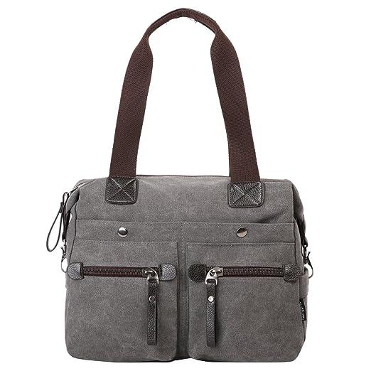 123 opinioni per Eshow borsa da donna di tela da spalla a tracolla multiuso scuola weekend (nero