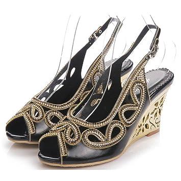 Kristall Sandalen Frauen Diamant Hang High Heels Lederband Schnalle Nachtclub Abend Bankett Party Pumps Schuhe