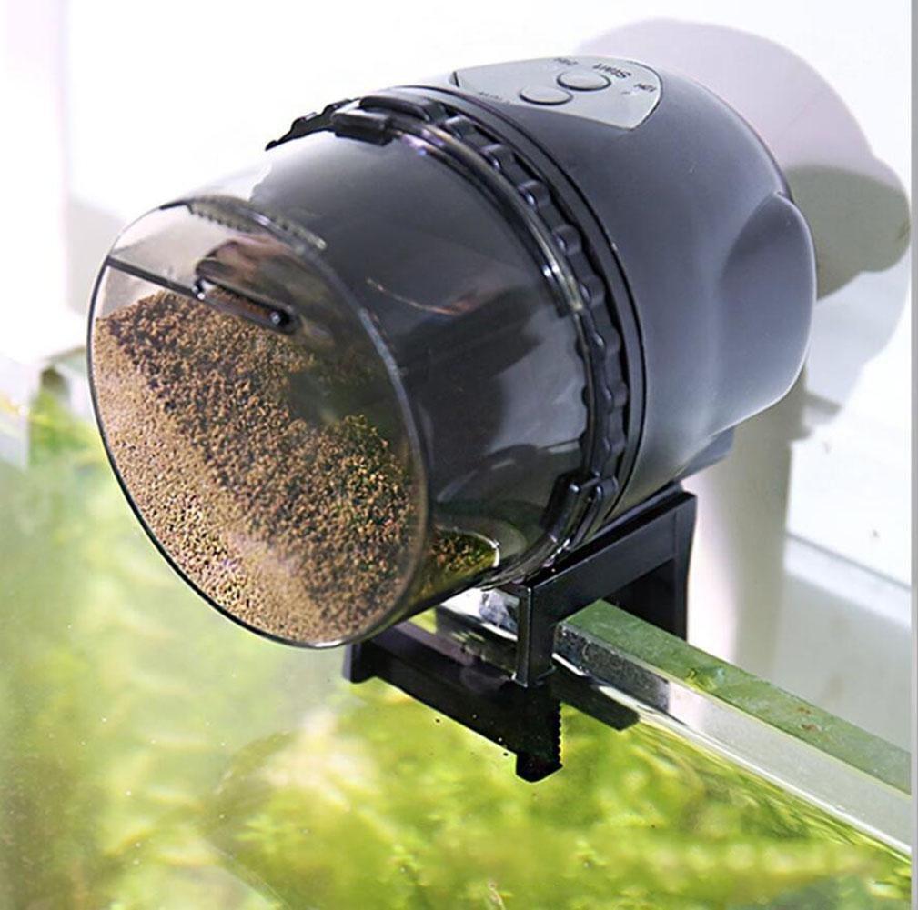 CWSPN Schermo LCD Digital automatico o manuale Aquarium Tank Timer Fish Food Feeder