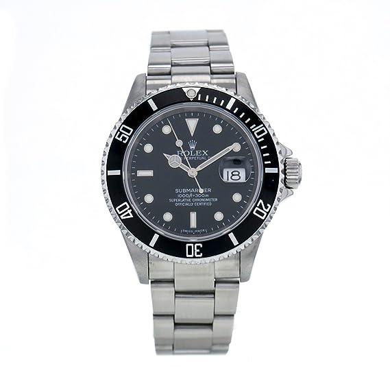 Rolex Submariner automatic-self-wind Negro Reloj para hombre 16610-bkso (Certificado