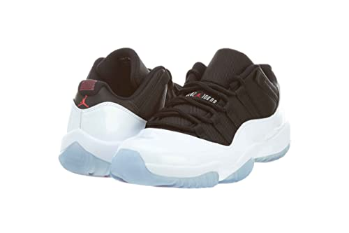 7ed50fff7eb Jordan Nike Mens Air 11 Retro Low Tuxedo White Black-True Red Synthetic  Basketball Shoes Size 8.5  Amazon.ca  Shoes   Handbags