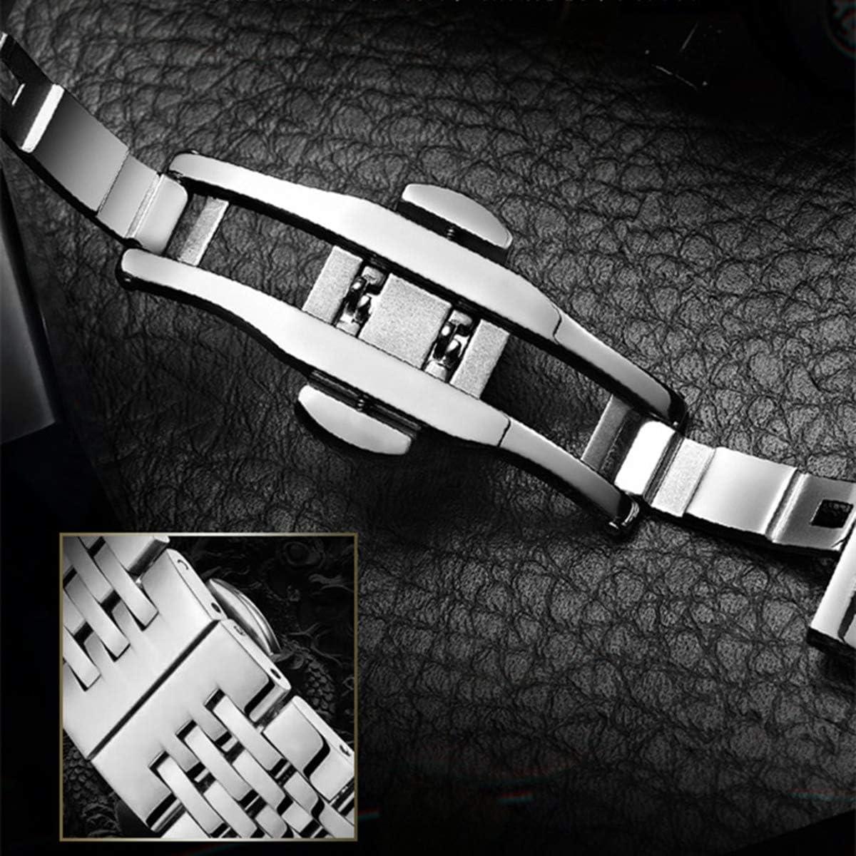 Qxue Orologio Meccanico da Uomo Impermeabile Cronografo Marchio Movimento di Moda Orologi colorC