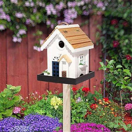 Casa Del Pájaro Creativa Patio Jardín Cottages Cabina Birdhouse Decoración De Madera Al Aire Libre Alimentador De Pájaros Vertical Al Aire Libre Del Alimentador Del ...