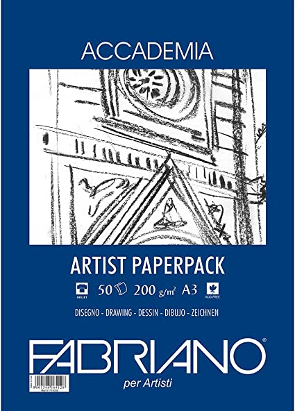 Accademia Drawing Paper 200gsm 50 Sheets Fabriano A3