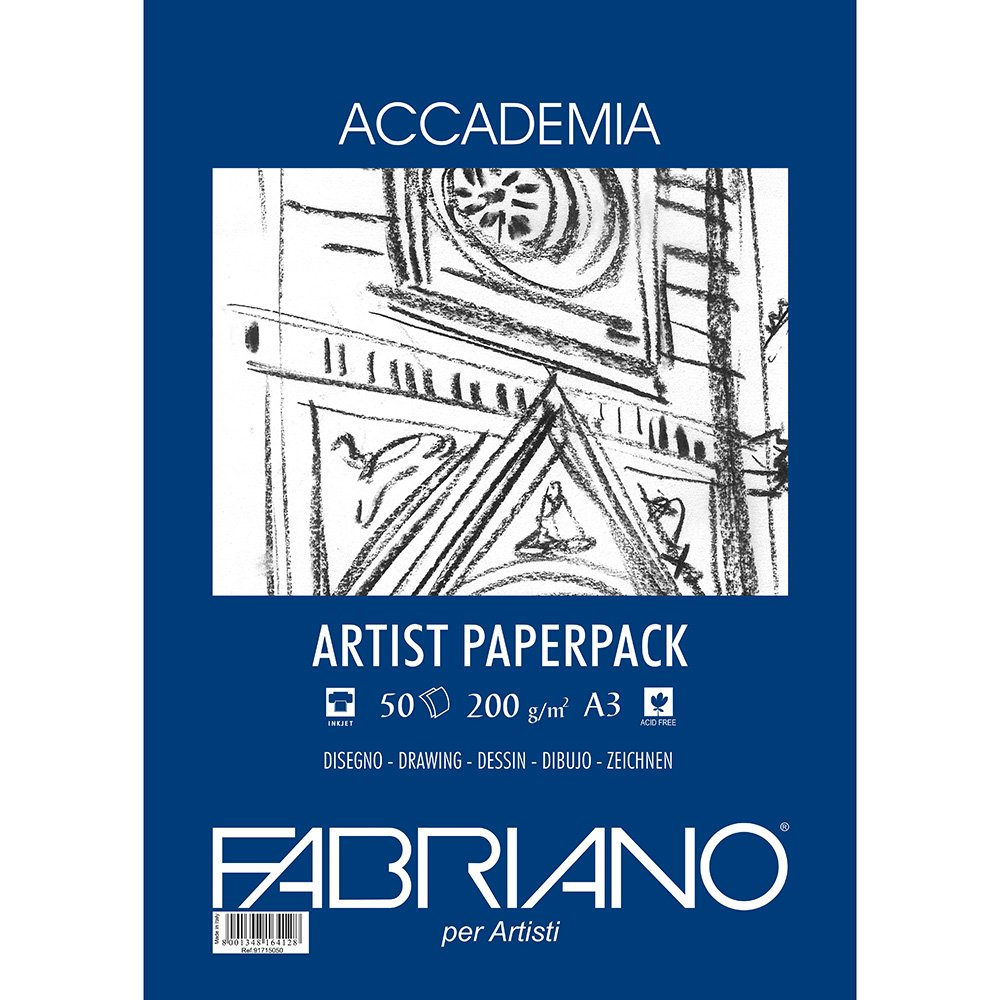 A3 50 Sheets Fabriano 200gsm Accademia Drawing Paper