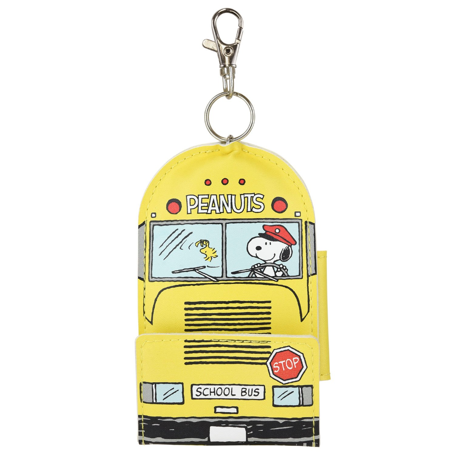 Peanuts Snoopy Smart Key Case Pouch School Bus Yellow sng-188b