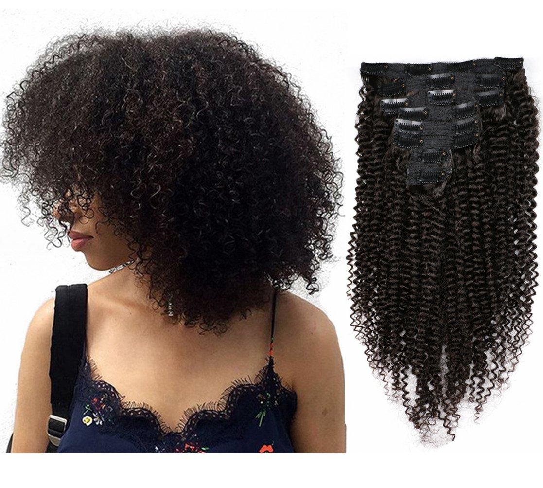 Amazon Meiem Clip In Human Hair Extensions Brazilian Virgin