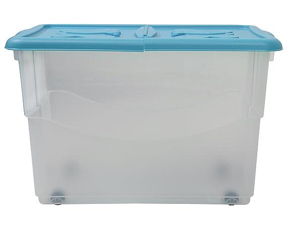 Ondis24 5 x Aufbewahrungsbox Lagerbox Sichtbox Stapelbox Multibox WOW grau