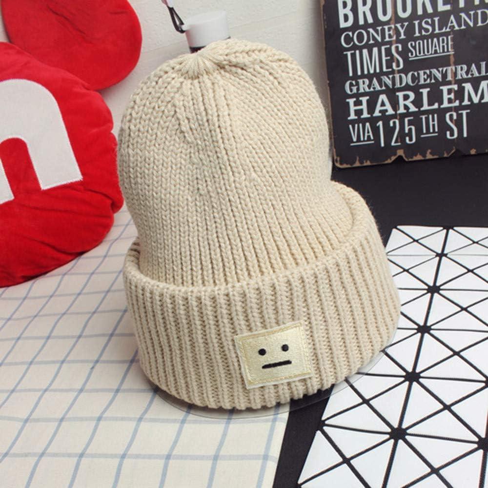 warm f/ür den Winter Ominee M/ütze aus Baumwolle Unisex Smiley