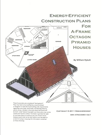 Amazon.com: House Plans for A-Frame, Octagon and Pyramid Houses ...