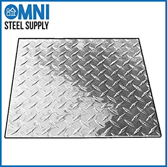 Bright Finish Aluminum 3003-H22 Diamond Tread Plate .025 x 24 x 24 ASTM B209