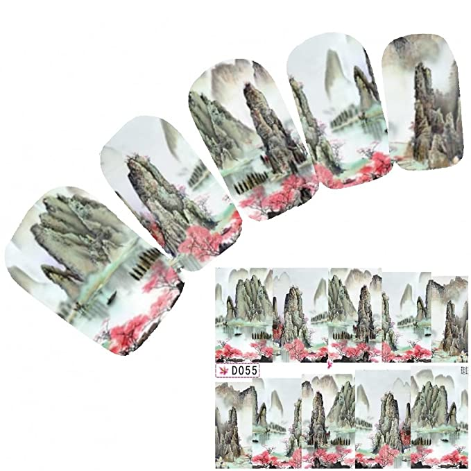 JUSTFOX - tatuaje de nail diseño de Art pegatinas adhesivo uñas de ...
