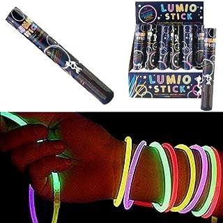 Promobo Set 15 Lumino Stick Bracciale Bastone Luminoso con Clip