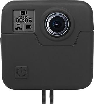 CARCASA Funda Cubierta Protectora De Silicona /& tapa de lente para cámara deportiva GoPro Fusion