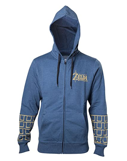 Breath Bleu À Et Logo Of Game Legend Gold The Vêtements Capuche Zelda Zippé Chiné Wild L Accessoires Sweat 7Cqtaxzg