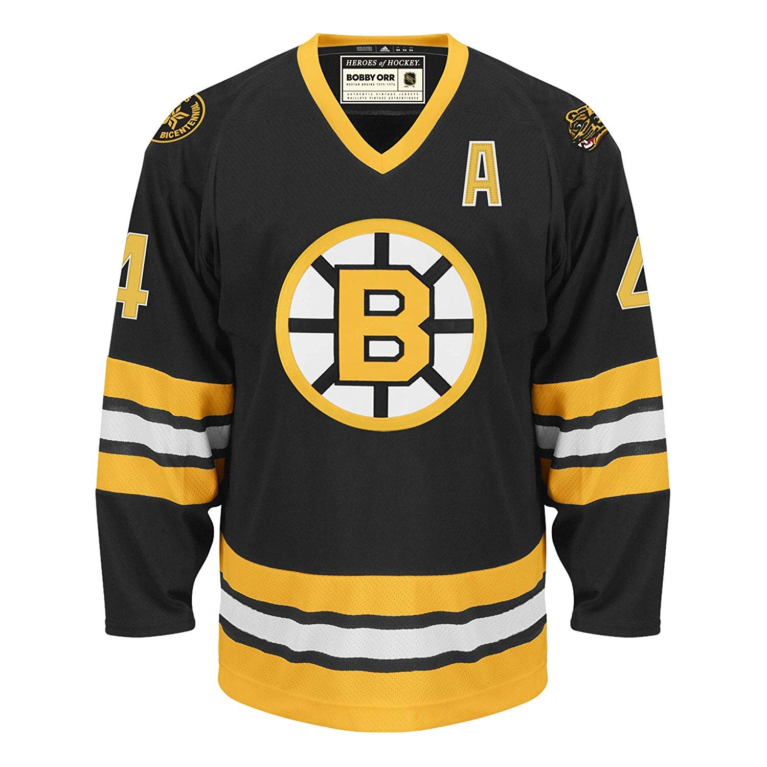 cfea2a3ed Amazon.com : adidas Bobby Orr Boston Bruins Heroes of Hockey Authentic  Vintage Jersey (50/M) : Sports & Outdoors