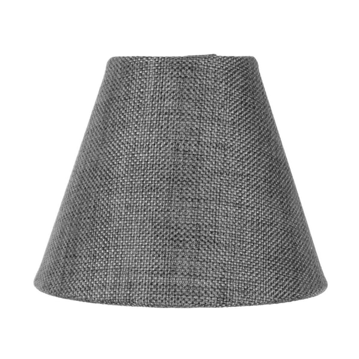 3x6x5 Granite Grey Burlap Chandelier Lampshade By Home Concept - Perfect for chandeliers, foyer lights, and wall sconces -Small, Grey