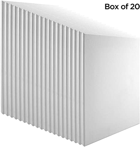 """Practica Stretched Canvas Boxes of 20 5//8/"""" Deep Cotton Acid Free Primed Painting"""