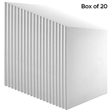 "2 Pack Economy Stretched Canvas Panels 12X24 Bulk Discount 5//8/"" Econo White"