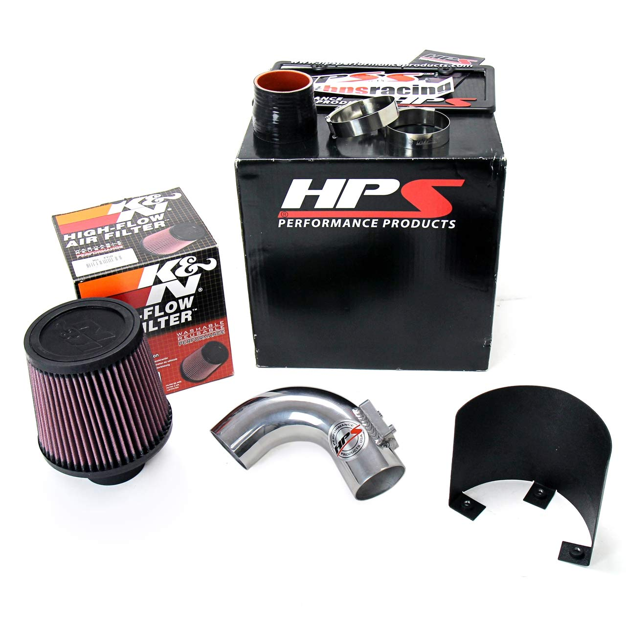 HPS 27-165R Red Shortram Air Intake Kit Cool