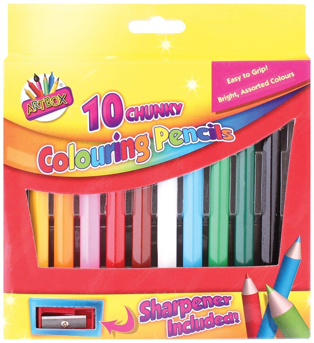 2X 1/2 Size Chunky Colouring Pencil (Pack of 10) ARTBOX