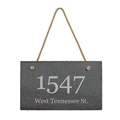 Awards4U Personalized Slate Address Plaque 12x7 Indoor Outdoor Farmhouse Style Sign. Customize Now! : Garden & Outdoor