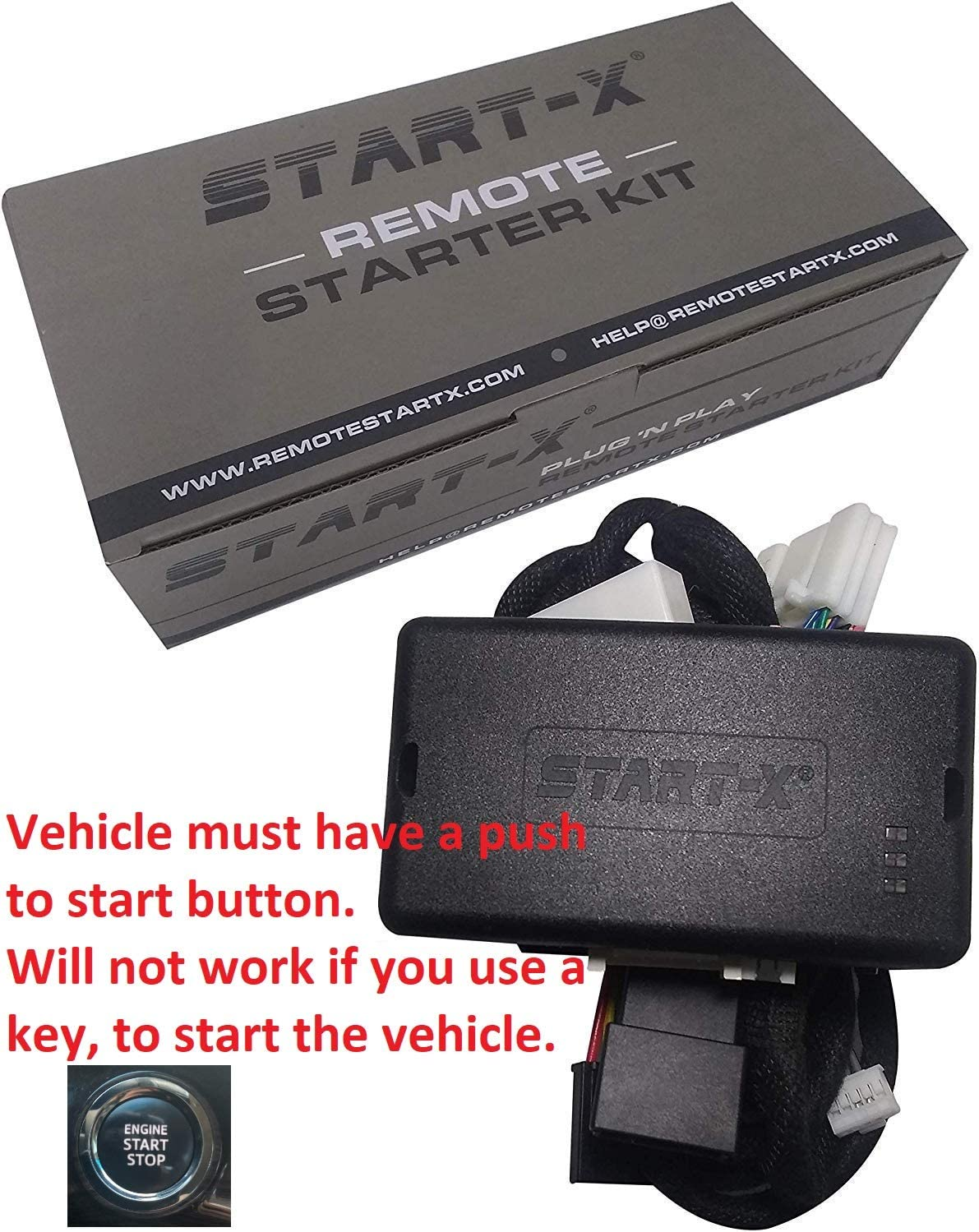 Lock 3X to Remote Start Push to Start Only Start-X Plug N Play Remote Starter for 4Runner 2010-19 Sienna 2011-2019
