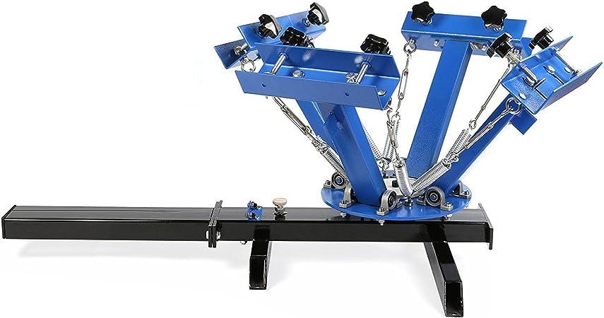 VEVOR Silk Screen Printing Machine 4 Colori 1 Stazione Screen Printing Machine Machine Stampa Serigrafica Removibile