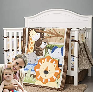 Neutral Pack n Play Nursery Mini Crib Sheet Changing Pad Cover Woodland Animals Crib Sheet Boy Pillowcase Toddler Bedding Baby Gift