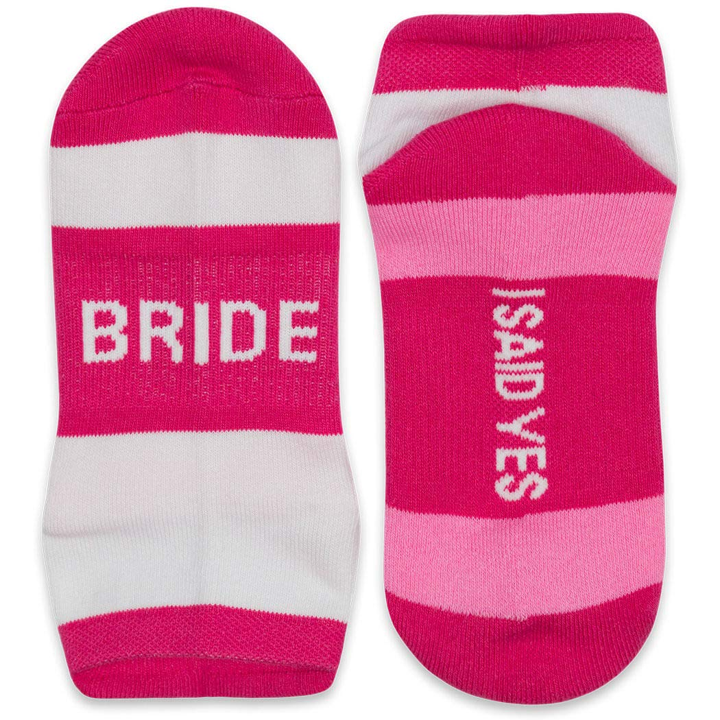 Your Wedding Message Sock Pack | Bachelorette Party Gifts | Bride & 4 Bridesmaids by ChalkTalkSPORTS
