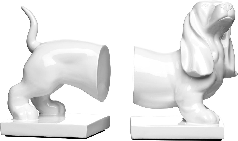 Sujetalibros Premier Housewares Color Blanco dise/ño de Perro