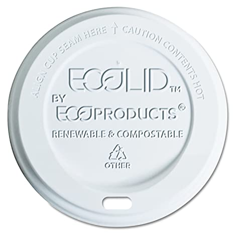 Amazon.com: Eco-Products EPECOLID8 EcoLid Renewable & Compostable Hot Cup Lids, Fits 8oz Hot Cups (Case of 800): Home Improvement