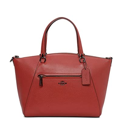 ee17b6a6c2c3 COACH Women s Pebbled Prairie Satchel Dk Washed Red One Size ...