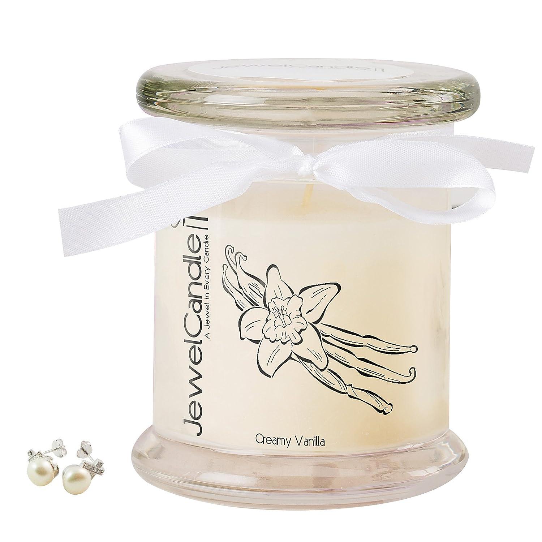 JewelCandle Creamy Vanilla - Bougie Parfumée avec Bijou Surprise en Argent (Bague) (S) JuwelKerze JewelCandle GmbH