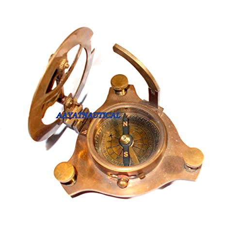 Amazon.com: BRASS COMPASS WEST LONDON 4 SUNDAIL COMPASS ...