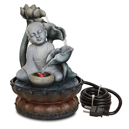 TIED RIBBONS Table Top Buddha Monk Water Fountain (709cm,Multicolour)