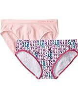 Calvin Klein Girls' Seamless Bikini (Pack Of 2)