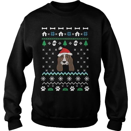 Merry Pets Apparel Basset Hound Dog Christmas Ugly Christmas Sweater