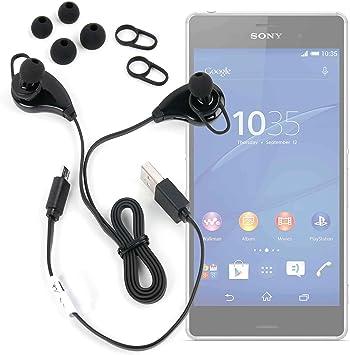 DURAGADGET Auriculares inalámbricos en Color Negro para Smartphone Motorola One, Motorola One Power, Sony Xperia XZ3: Amazon.es: Electrónica