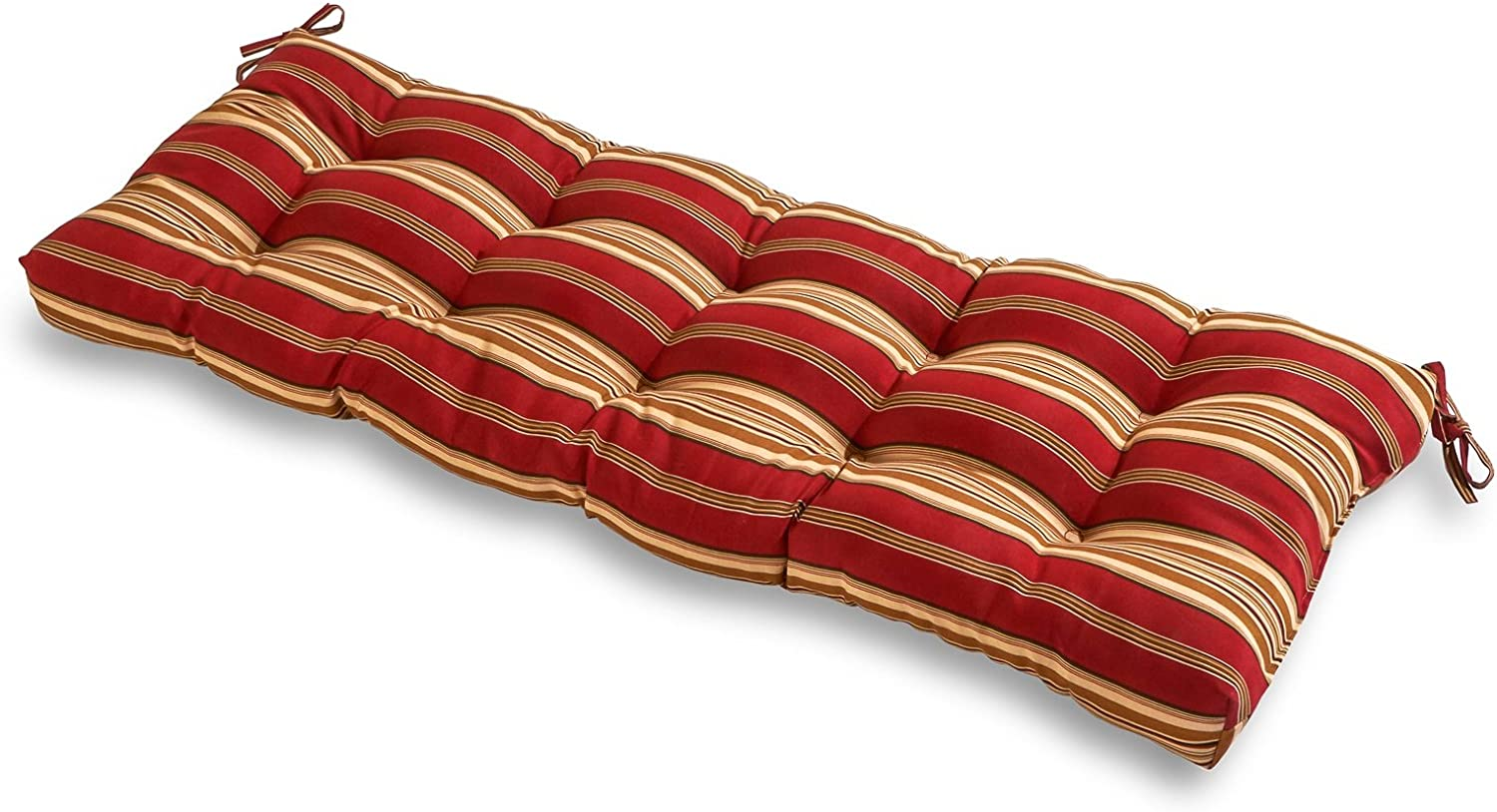 Greendale Home Fashions Indoor Outdoor Bench Cushion, Roma Stripe, 51-Inch