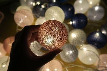 Cadena De Luces Decorativas, Morbuy 4.8m Batería Algodón Bolas Guirnalda Luces Bebe Casa Dormitorio Decoración Boda Fiesta De Cumpleaños Decoración Luces de 30 Hadas LED: Amazon.es: Electrónica