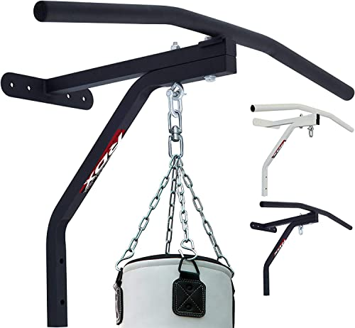 RDX Heavy Gym Iron Chin Pull Up Bar Fitness Ceiling Frame Boxing Outdoor MMA Wall Mounted Brackets