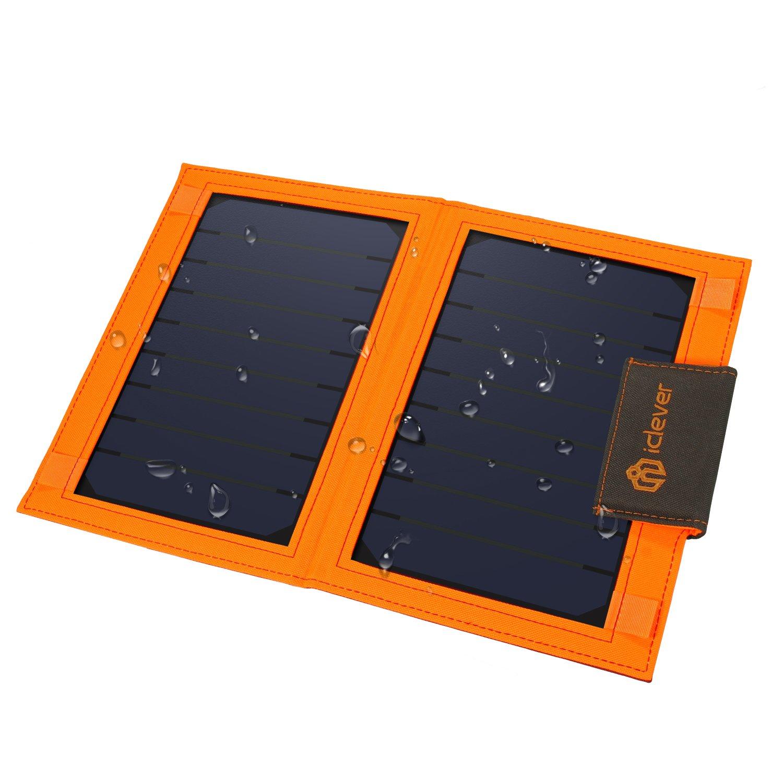 Cargador Solar Portatil con Bateria de 8000mah ICLEVER