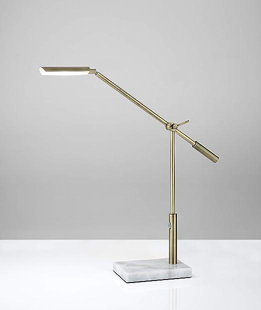 Adesso 4128 21 Vera Led Desk Lamp 16 26 In 6w Full Spectrum Led Antique Brass Finish 1 Table Lamp Home Improvement