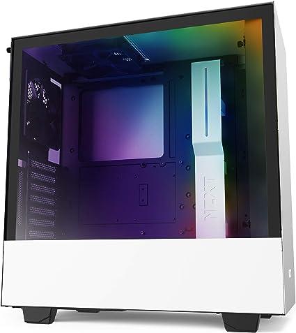 NZXT H510i - Caja PC Gaming Semitorre Compacta ATX - Panel frontal E/S Puerto USB de Tipo