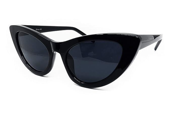 5da575cb7e O2 Eyewear 8250 Clout Goggles Cat Eye Vintage Mod Style Retro Kurt Cobain  Sunglasses (BLACK