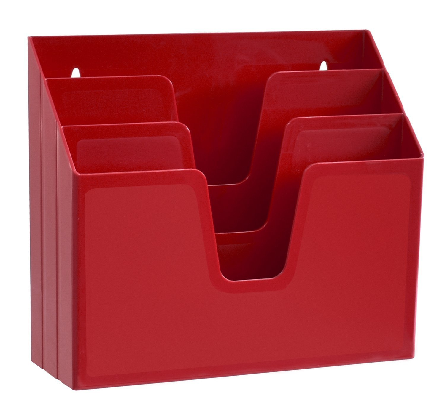 Acrimet Horizontal Triple File Folder Organizer (Solid Red Color) 860.VMO Vermelho Opaco