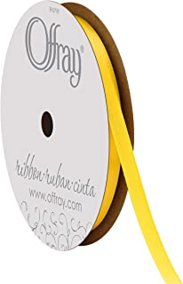 """product image for Offray Singleface Satin 1/4"""" 20 yd Lemon Ribbon, 1/4 Inch x 20 Yard"""