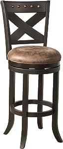 Hillsdale Furniture Brantley Stool, Deep Brown Finish